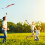 Family Flying a Kite